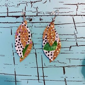 5/$15 Faux Leather Earrings